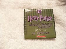 AAF- HARRY POTTER AND THE HALF-BLOOD PRINCE YEAR 6 PIN BADGE    #579