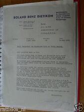 HT136-ORIGINAL AUTOGRAPH ROLAND BENZ DIETIKON,SIGNATURE,AUTOGRAMM,TUBBERGEN