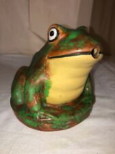 Weller Pottery Coppertone Pond/Fountain Frog Figure-6� Size-Late 1920's-Art Deco