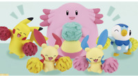 "Pokemon Mini Figure Set ""Cheering"" Japan"
