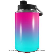 Skin Wrap for Yeti 1 Gallon Jug Smooth Fades Neon Teal Hot Pink