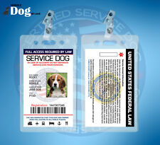 CUSTOMIZE  EMOTIONAL SUPPORT THERAPY SERVICE DOG ID CARD ESA ADA BADGE TAG #BRWE