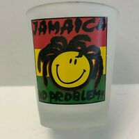 "Jamaica ""No Problem"" Frosted Rasta Shot Glass Shotglass"