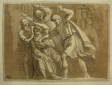 'assassinat de César; les of Julius Caesar' CARAVAGE/Metz, aquatinte 1791