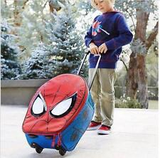 Disney Store Spider-Man Rolling Luggage Suitcase NWT Red Blue Carry-On Bag