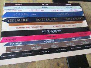 Tissus collectors,parfums de marque-Lot Prada,Cerruti,Dolce&Gabbana,Trussardi...