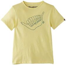 Billabong Boys Shaaaka Short Sleeve T-Shirt Dust Yellow Size 8 Year UK Free P&P