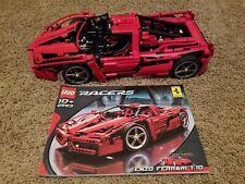 LEGO RACERS TECHNIC 8653 ENZO FERRARI 1:10 100% COMPLETE W / INSTRUCTIONS 2005