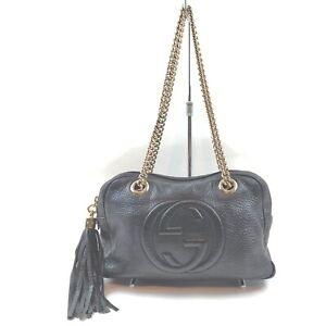 Gucci Shoulder Bag  Black Leather 1902772