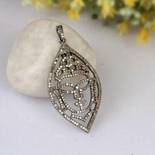 Religious Buddha Face Diamond Charm 925 Silver Yoga Meditation Charm Pendant