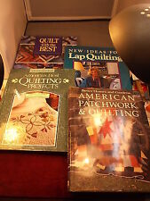 "LOT OF QUILTING BOOKS ""QUILT WITH THE BEST"" ""LAP"" ""AMERICA'S BEST PROJECTS"" MORE"