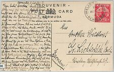 BERMUDA -  POSTAL HISTORY - POSTCARD from IRELAND ISLAND ! Military Golf links