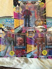 Playmates Star Trek The Next Gen Action Figures Picard, Dathon, Vorgon Lot of 3