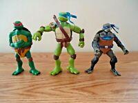 "Mixed Lot Of 3 Teenage Mutant Ninja Turtle Toy Action Figures "" GREAT LOT """