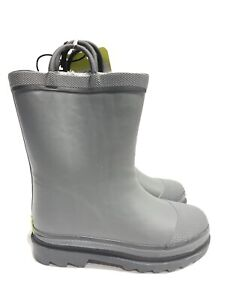 Western Chief Kids' Waterproof Gray Rain Boots, Boys' Size 10.