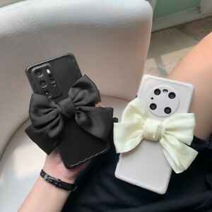 3D Bowknot Soft Rubber Phone Case Cover For iPhone Huawei P30 40 Mate 30 40 Pro