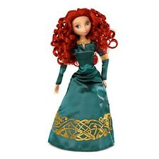 "Scotland Brave Merida 12"" Tall Disney Princess Doll w/ Beautiful Dress Gold Trim"