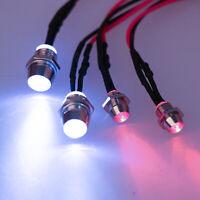 RC On-Road Model Drift Car LED Night 5mm & 3mm Headlamps Headlights Light 4pcs