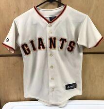 San Francisco Giants MLB Jersey, Majestic, Youth Size Medium, 8-10, Tan, Orange