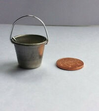 Galvanizado Cubo, Casa de Muñecas Miniatura Accesorios Al Aire Libre De Metal