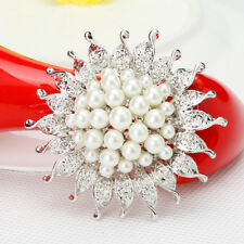 flower pearl bridal bouquet brooch pin wedding party
