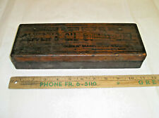 Vintage Oliver's Oil Stone Box & Stone & Wick