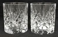 RARE Royal Crystal Rock OVERTURE 2 Double Old Fashioned Glasses EXCELLENT!!!!