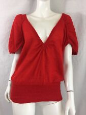 L'ART BY RIVER ISLAND 30% MOHAIR HAIRY RED OVERSIZED LOW FRONT JUMPER SZ 10