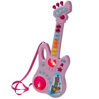 Kids Guitar Toy Musical Play Instrument W Hearty Sounds And Light 14 Inch Big