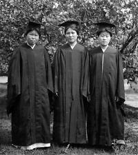 Photo. 1914. Korea. Ewa Haktang - 1st College Graduating Class of 3