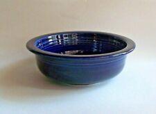 "Vintage 80s Homer Laughlin Fiesta 8"" Round Vegetable Bowl-Cobalt Blue-Fiestaware"