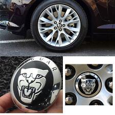 4 Wheel Center Hub Caps Emblem Black Badge Decal 5.6 cm Sticker Fits For JAGUAR