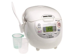Zojirushi NS-ZCC10 Neuro Fuzzy Rice Cooker and Warmer, Premium White