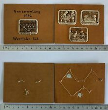 4 Orig. WHW Winterhilfswerk Abzeichen Kindergarten Westfalen 1942 auf Pappe mont
