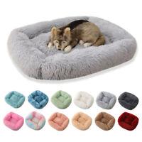 Pet Bed Dog large Luxury Shag Warm Fluffy Puppy Kitten Fur Donut Cushion Mat Hot