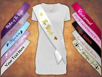 Front and Back Personalised Hen Party Stag  Birthday Sash Sashes Any Age Girl