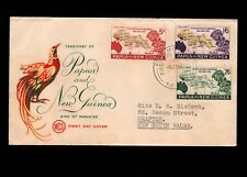 Papua & New Guinea Port Moresby 1st Day 1962 Pago Pago Map 3 Issues On Cover 5l