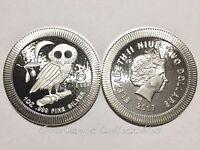 2017 Niue 1 oz 999 Silver $2 Athenian Athena Owl Stackable Coin BU Proof Capsule