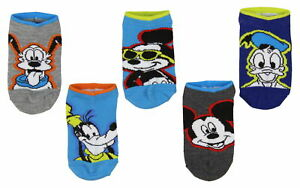 Disney Mickey Mouse And Friends Little Boys' Kids Ankle No Show Socks 5 Pairs