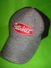 Peterbilt Hat:  Chambray Summer Mesh Back Trucker's Cap   FREE SHIPPING IN U.S.A