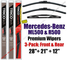 Wipers 3pk Front Rear fit 2006-2007 Mercedes-Benz ML500 R500 19280/210/12J