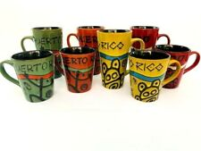 Puerto Rico Ceramic Coqui Taino Coffee Mugs Cups 12oz or 16oz Fine Souvenirs