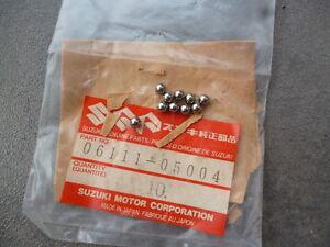 SUZUKI M31 JR50 F50 FA50 STEERING BALL BEARINGS SET X10 NOS 06111-05004