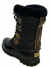 Sorel ALPINE Womens Waterproof Rubber/Leather Insulated Duck Boots Blk. SZ 8 Usa