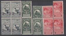FRANCOBOLLI - 1923 REGNO SOPRASTAMPATI 4 SERIE MNH Z/8566