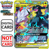 Reshiram & Zekrom GX 157/236 Cosmic Eclipse Pokemon TCG Online Digital.