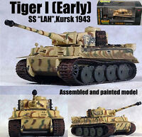 WWII German Tiger I tank early SS LAH Kursk 1943 1/72 finished Easy model