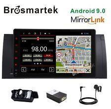 "Android 10.0 9"" Head Unit Car Radio GPS SAT NAV OBD WiFi DAB+ BMW E39 X5 M5 E53"