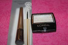 L'Oreal Paris Wear Infinite Eye Shadow #901 FROSTED ICING & EYELINER #830