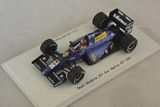 Spark S1718 - TEAM MODENA 291 n°35 GP F1 San Marin 1991 Eric van de Poele 1/43